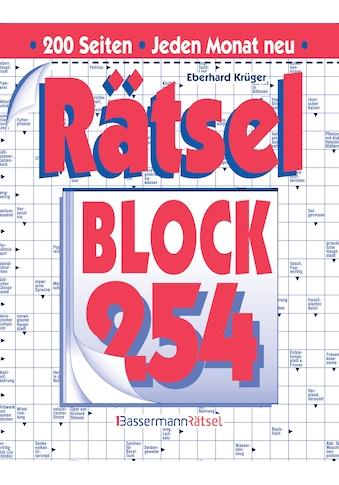 Buch »Rätselblock 254 (5 Exemplare à 2,99 EUR) / Eberhard Krüger« kaufen