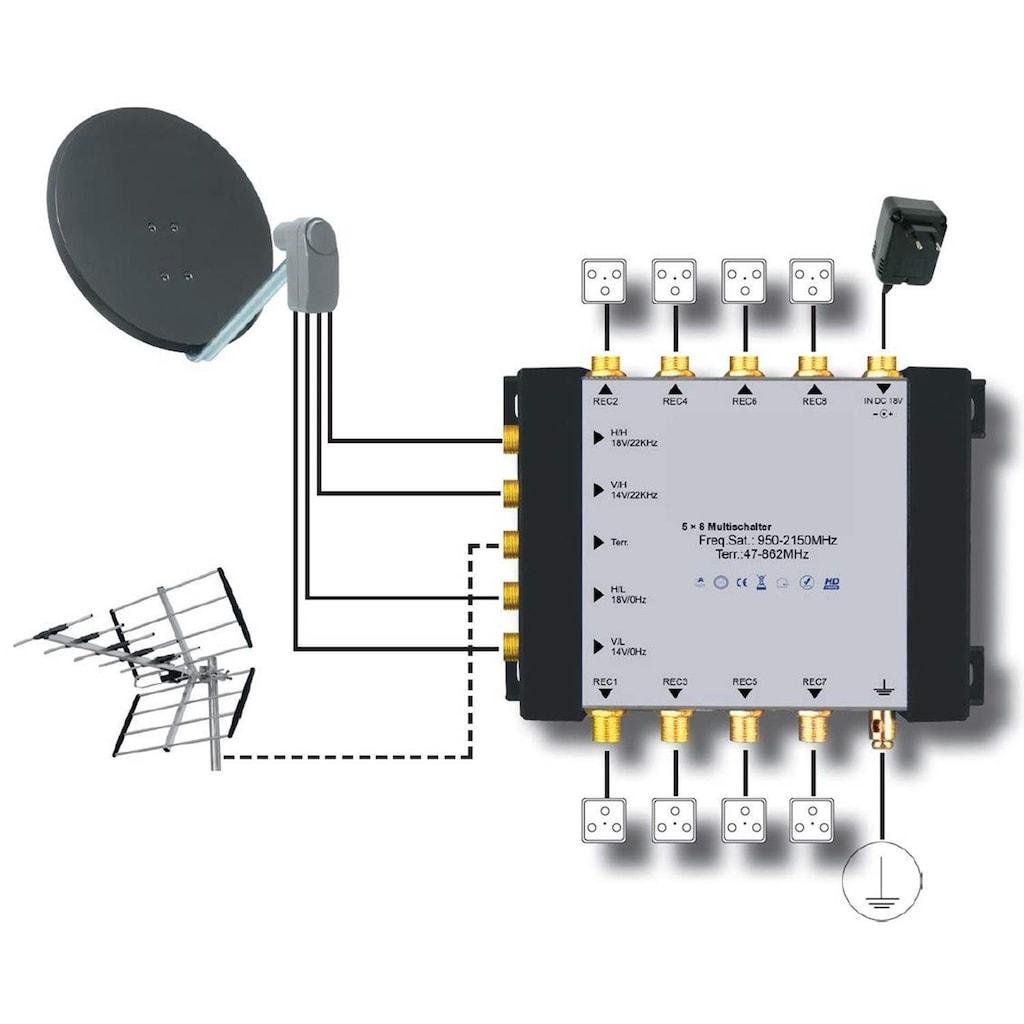 TELESTAR SAT-Multischalter zum Anschluss von bis zu 8 SAT-Receivern