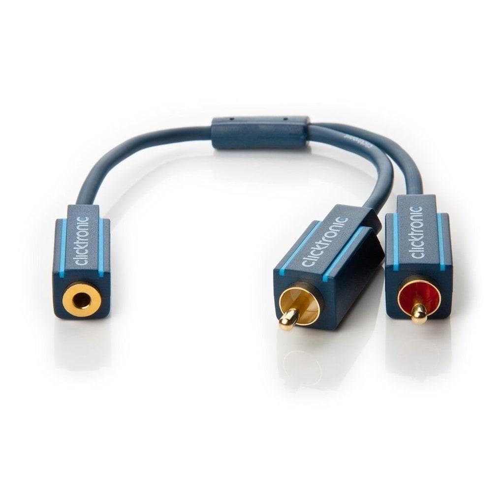 Clicktronic MP3 Y-Adapter »Klinke 3,5 mm Buchse auf x Cinch-Stecker«