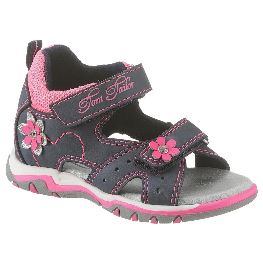 TOM TAILOR Sandale, mit süßer Blütenverzierung