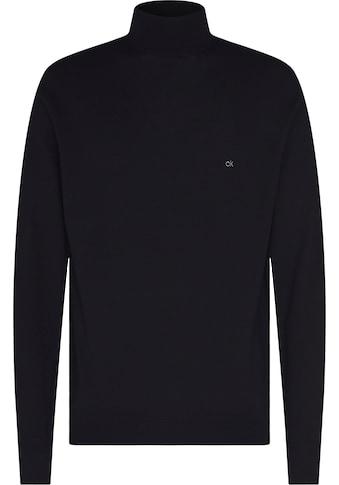 Calvin Klein Rollkragenpullover »SUPERIOR WOOL MOCK PULLOVER«, Feinstrick kaufen