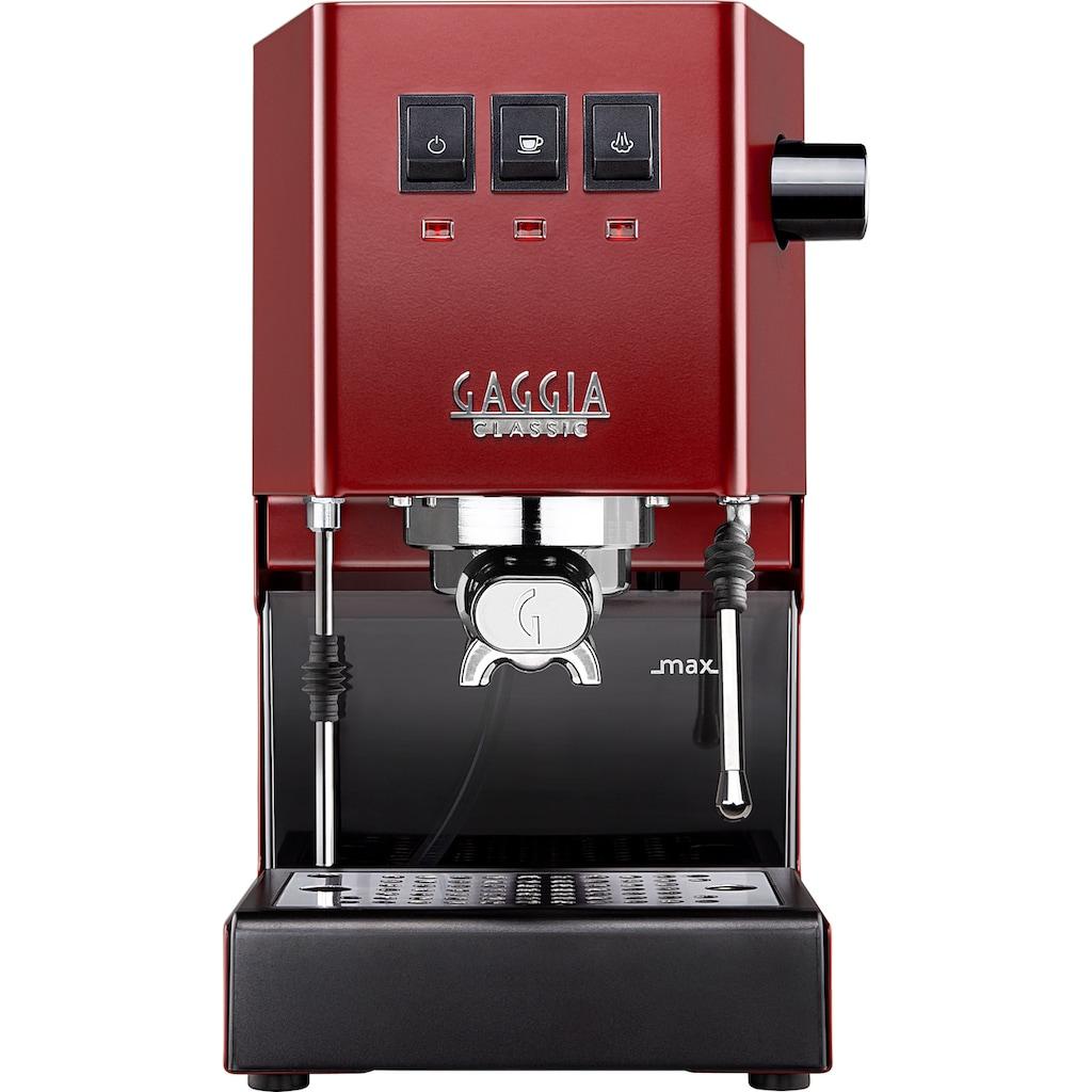 Gaggia Siebträgermaschine »New Classic Edition Rot«