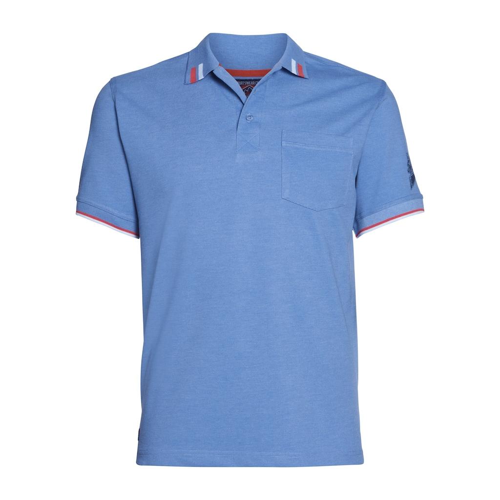 AHORN SPORTSWEAR Poloshirt mit coolem Ärmelprint