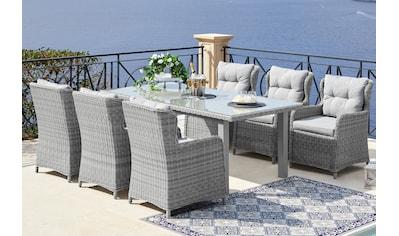 KONIFERA Gartenmöbelset »Miami«, (19 tlg.), 6 Sessel, Tisch 170x90 cm, Polyrattan kaufen