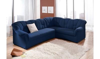 DOMO collection Ecksofa, in großer Farbvielfalt, wahlweise mit Bettfunktion, Langer Schenkel links oder rechts bestellbar, frei im Raum stellbar kaufen