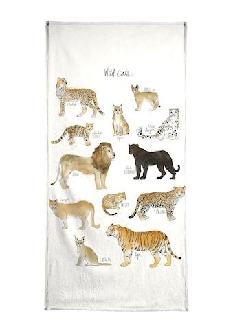 Juniqe Handtuch »Wild Cats«, (1 St.), Weiche Frottee-Veloursqualität kaufen