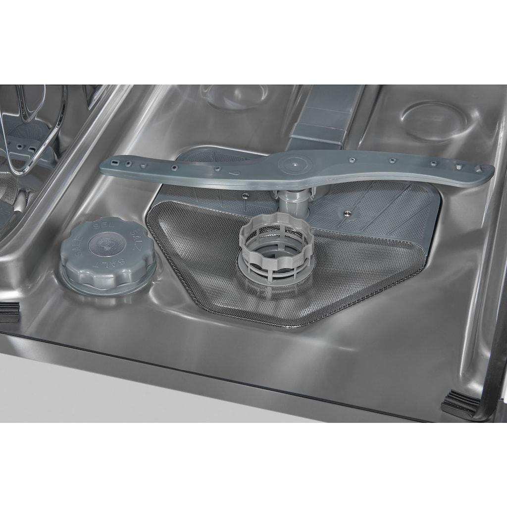 exquisit vollintegrierbarer Geschirrspüler »EGSP1009-E-030E silber«, EGSP1009-E-030E silber, 9 l, 9 Maßgedecke, 45 cm breit