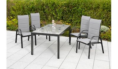 MERXX Gartenmöbelset »Marini«, (5 tlg.), 4 Klappsessel mit Gartentisch kaufen