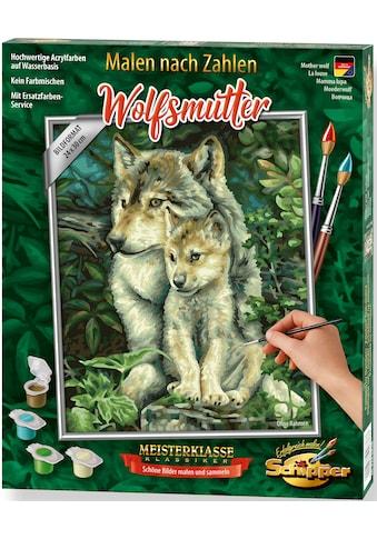 Schipper Malen nach Zahlen »Meisterklasse Klassiker - Wolfsmutter«, Made in Germany kaufen
