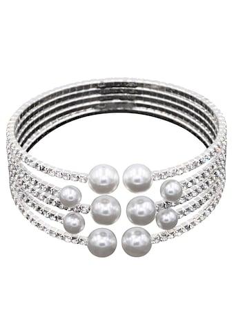 J.Jayz Armspange »festlich und elegant«, mit Glassteinen und Glasperlen kaufen