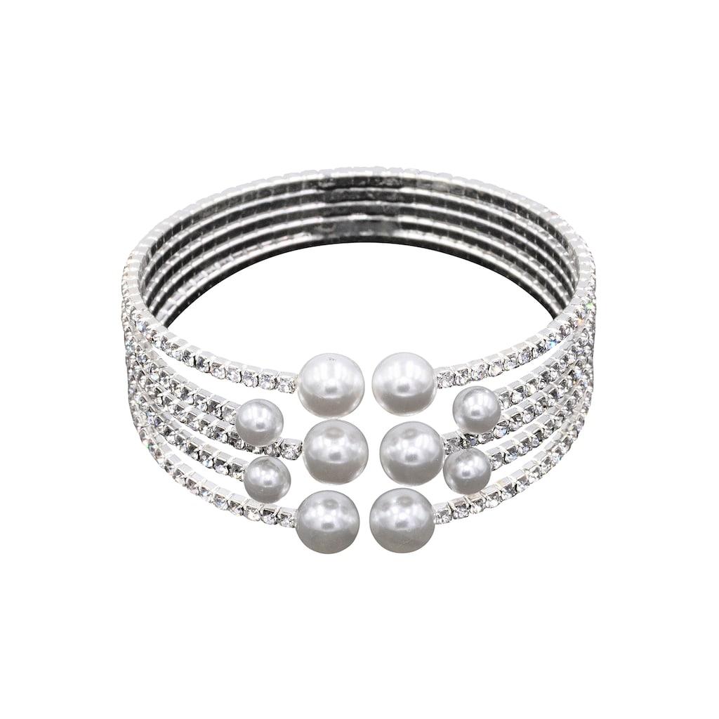 J.Jayz Armspange »festlich und elegant«, mit Glassteinen und Glasperlen