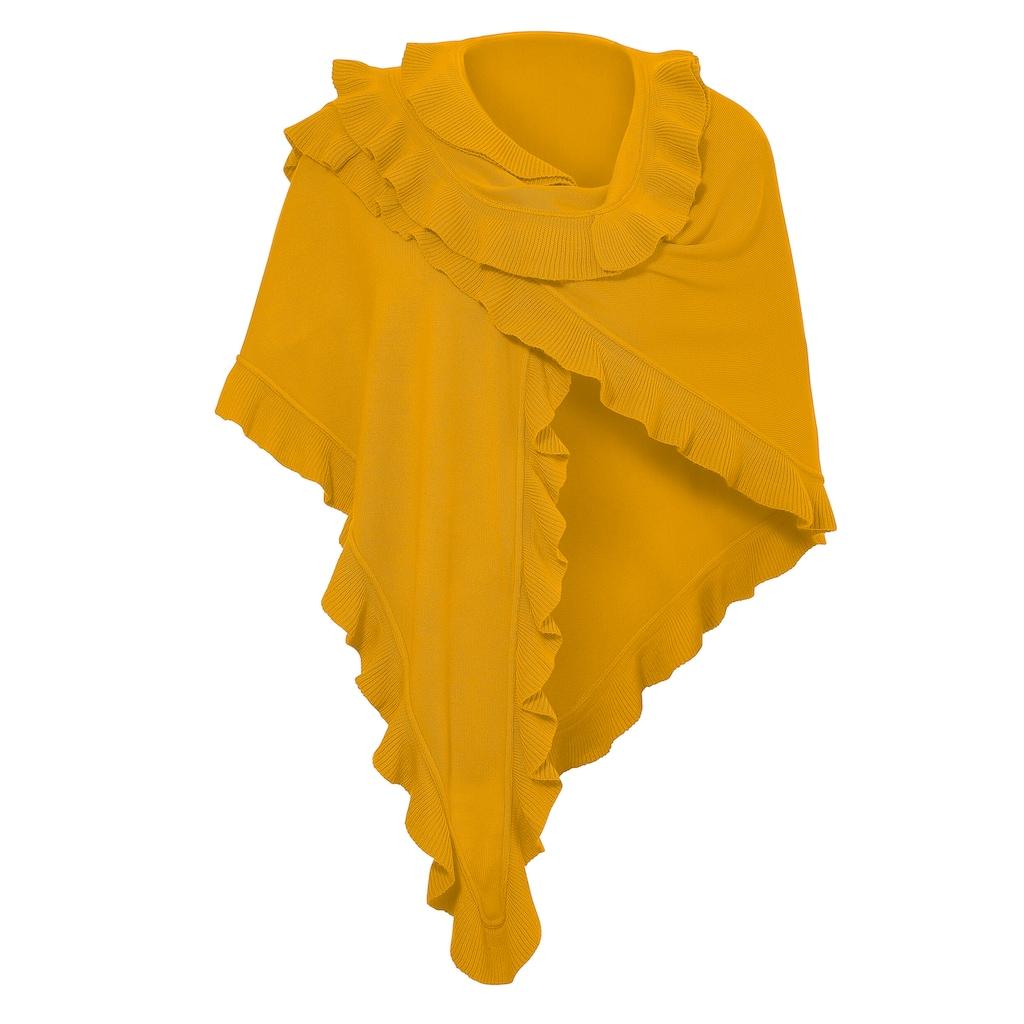 PURSET Schal, Trachtenponcho mit Rüschen