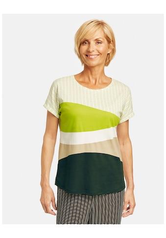 GERRY WEBER Kurzarmshirt »Shirt mit Colourblocking organic cotton« kaufen