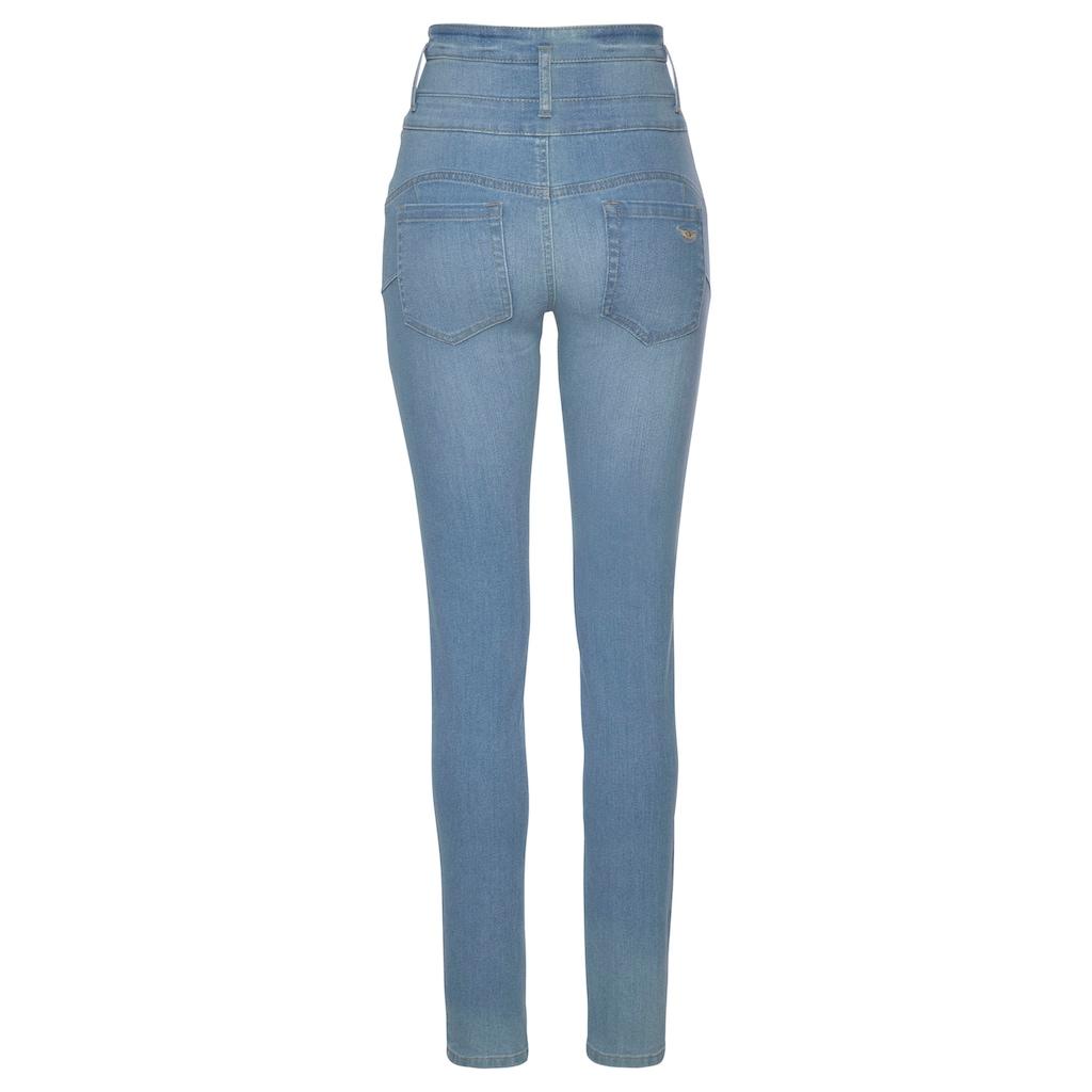 Arizona Slim-fit-Jeans »mit extra breitem Bund«, High Waist