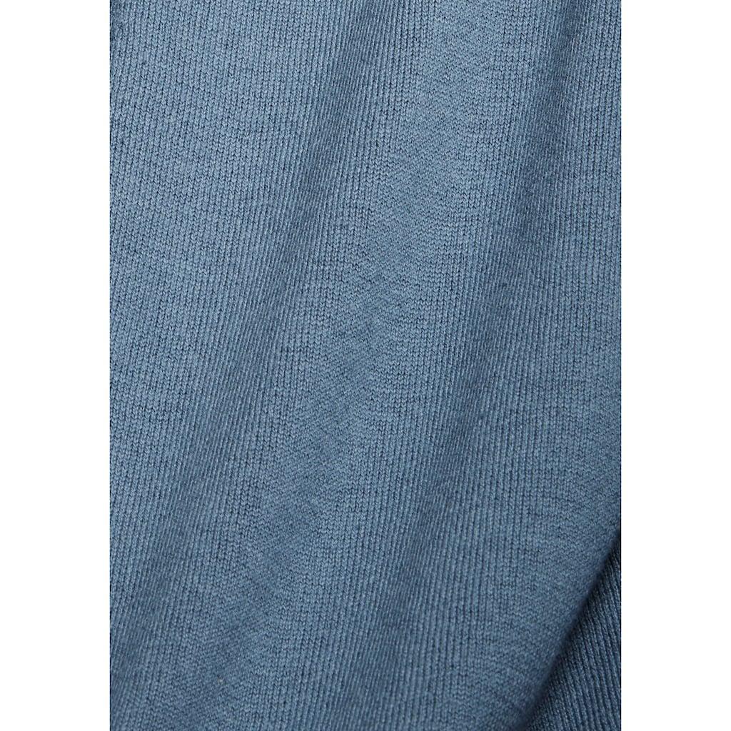 Esprit Cardigan, mit dezentem Streifendesign im Rücken