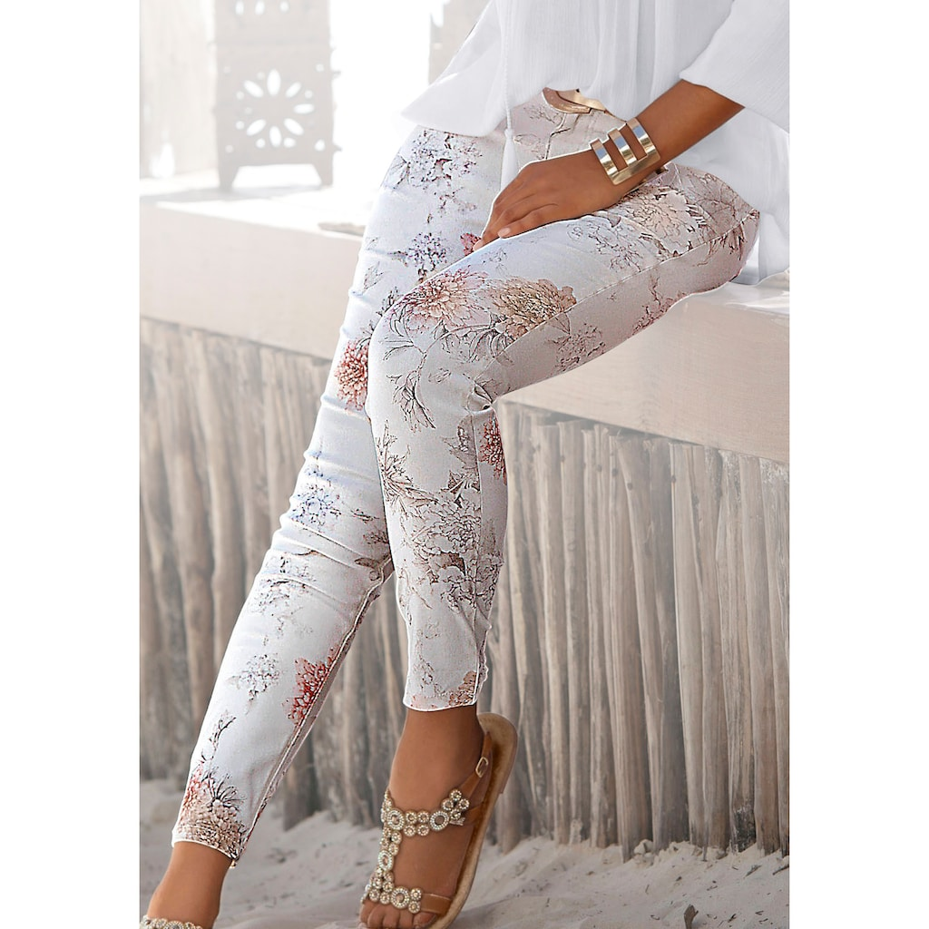LASCANA 7/8-Jeggings, mit Blumenprint
