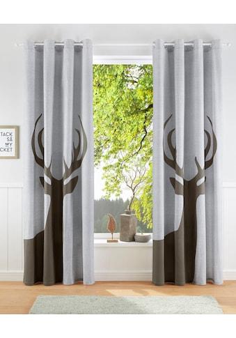 Vorhang, »Elch«, my home, Ösen 1 Stück kaufen