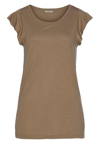 LTB Kurzarmshirt »TEWEBA«, mit Rüschen am Ärmelausschnitt kaufen