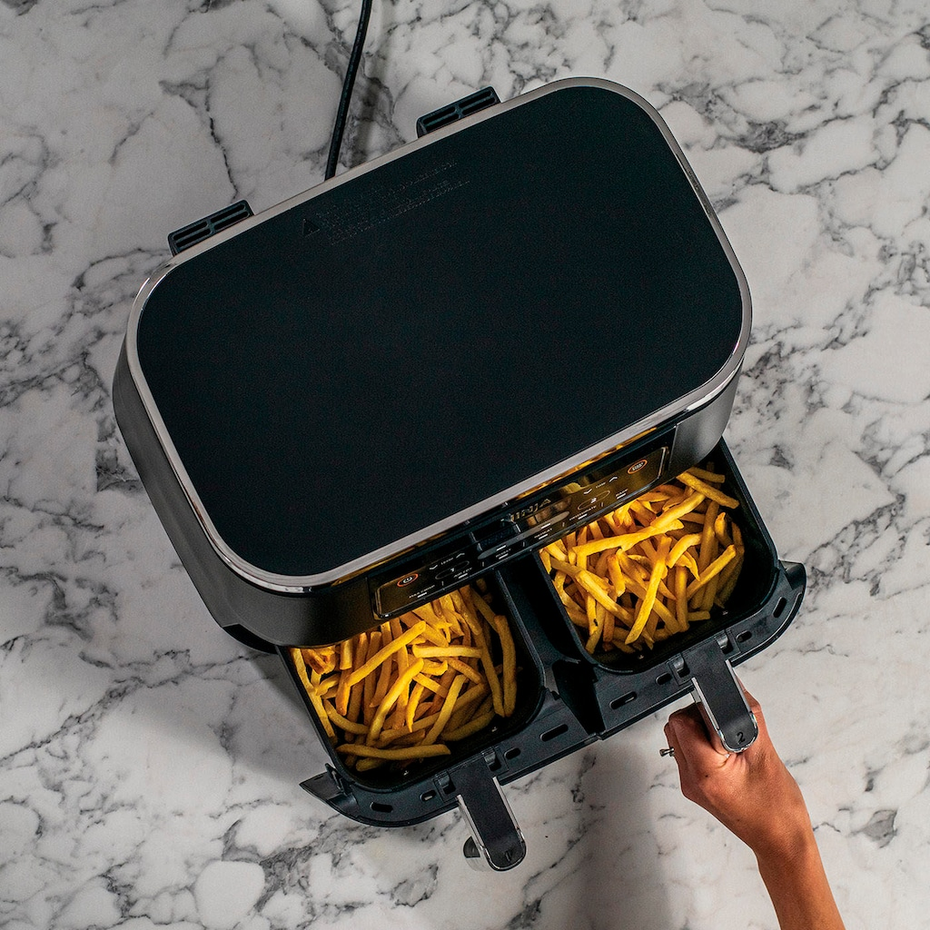 NINJA Heissluftfritteuse »Foodi Dual Zone AF300EU«, 2400 W, je 0,9 kg Kapazität incl. 2x Knusperblech