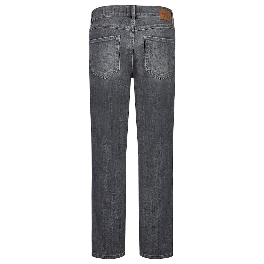 ANGELS Jeans 'Straight' mit ausgefranstem Saum