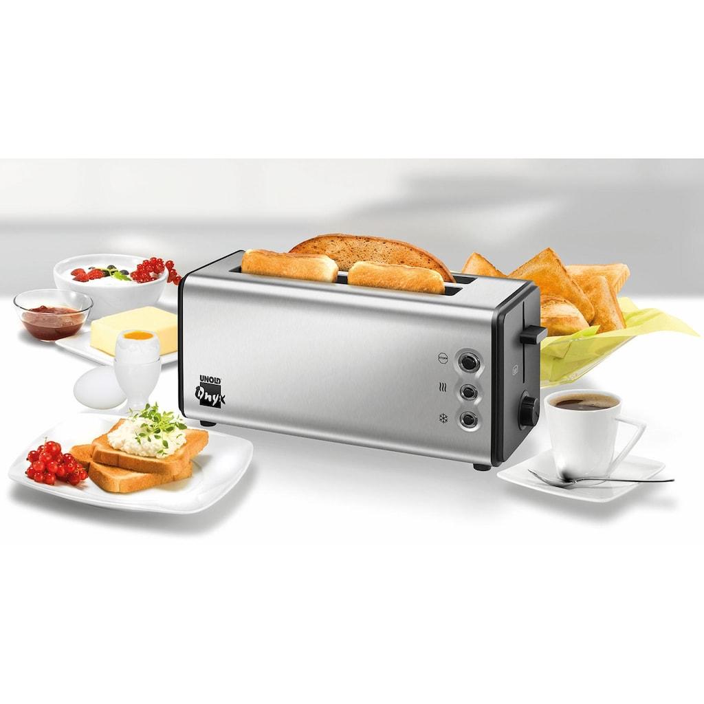 Unold Toaster »Onyx Duplex 38915«, 2 lange Schlitze, für 4 Scheiben, 1400 W