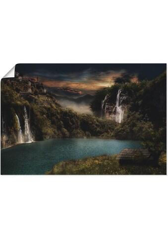 Artland Wandbild »Am grünen Fluss«, Landschaften, (1 St.), in vielen Größen &... kaufen