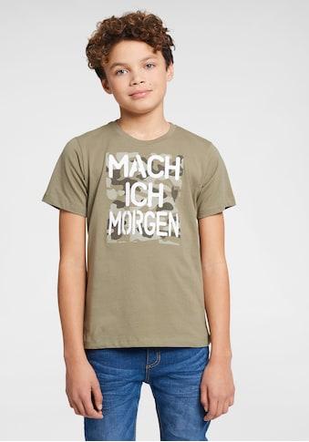 KIDSWORLD T-Shirt »MACH ICH MORGEN« kaufen