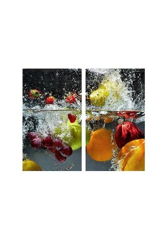 Wall-Art Herd-Abdeckplatte »Glasbild Erfrischendes Obst« kaufen