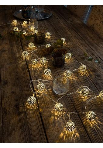 KONSTSMIDE LED-Lichterkette, 24 St.-flammig, LED Dekolichterkette, goldene... kaufen