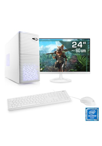 "CSL Office PC Set | Intel Quad Core | 8 GB RAM | SSD | 24"" TFT »Speed T1383 Windows 10 Home« kaufen"