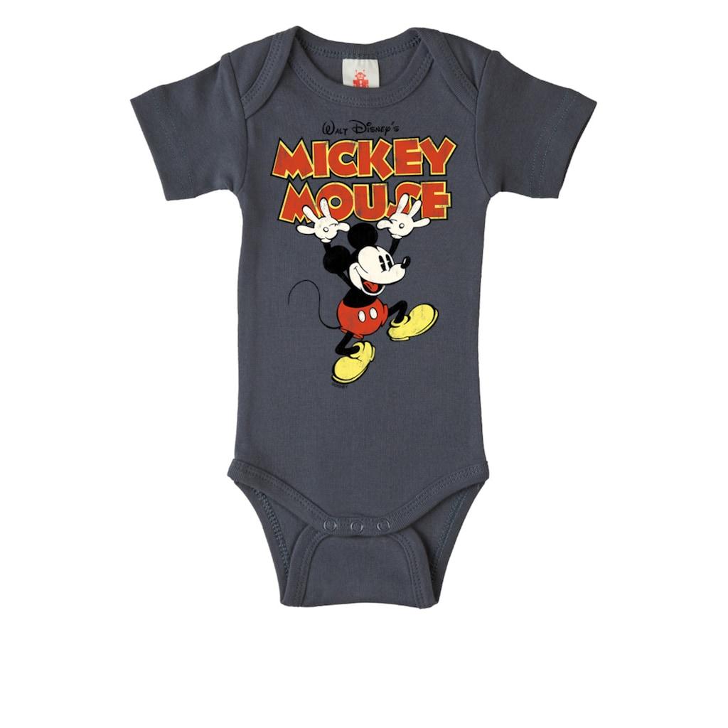 LOGOSHIRT Body mit Mickey Mouse-Frontdruck
