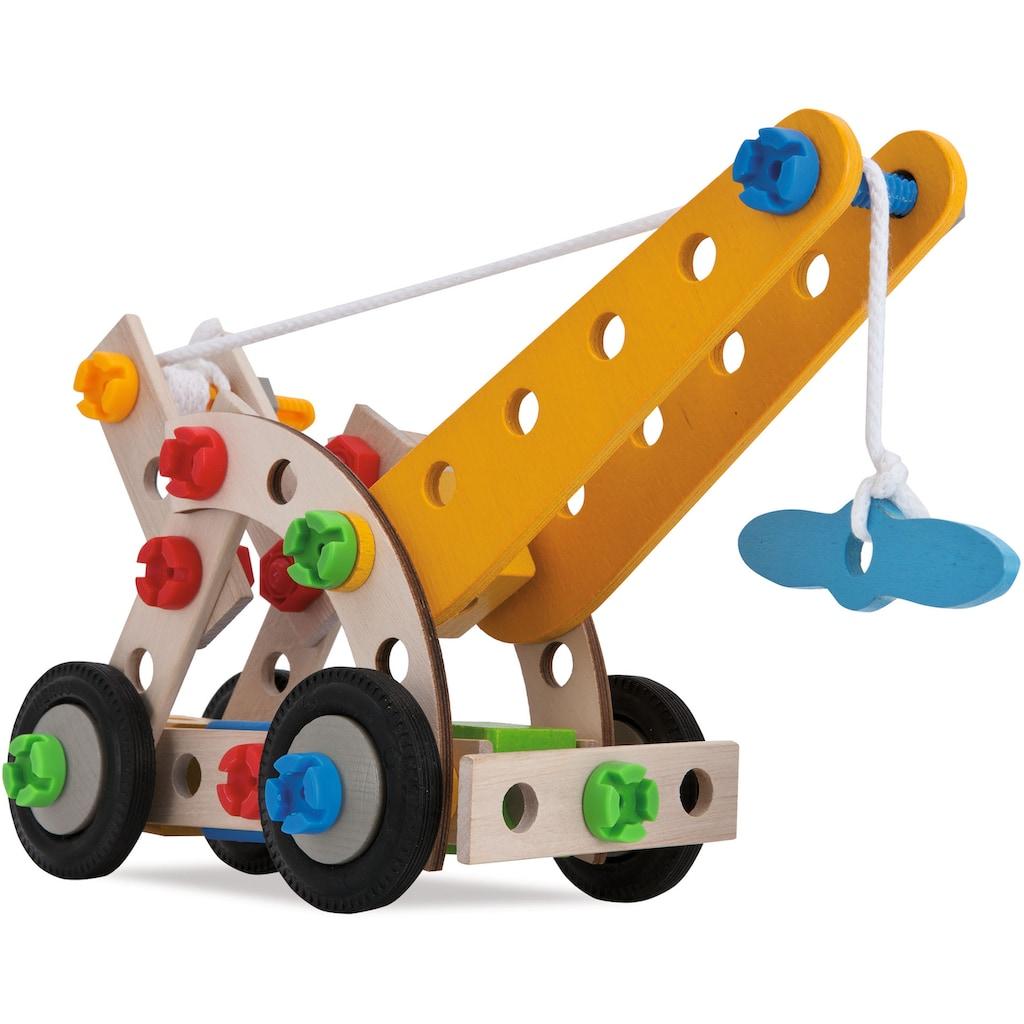 Eichhorn Konstruktionsspielsteine »Constructor Kranwagen, 70tlg.«, (70 St.), Made in Germany, FSC®-Holz aus gewissenhaft bewirtschafteten Wäldern