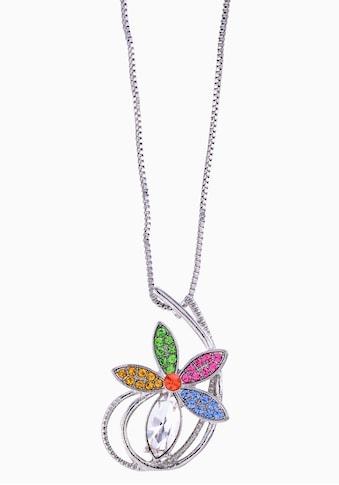 J.Jayz Kette mit Anhänger »bunte Blüte, verspielt«, mit Glassteinen kaufen