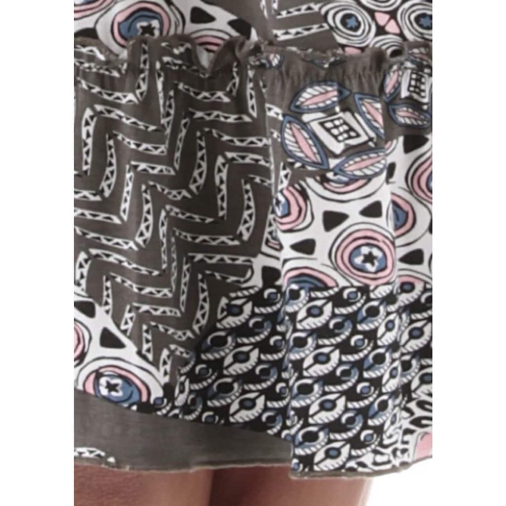 Aniston SELECTED Jerseykleid, mit hohem Volant-Abschluss