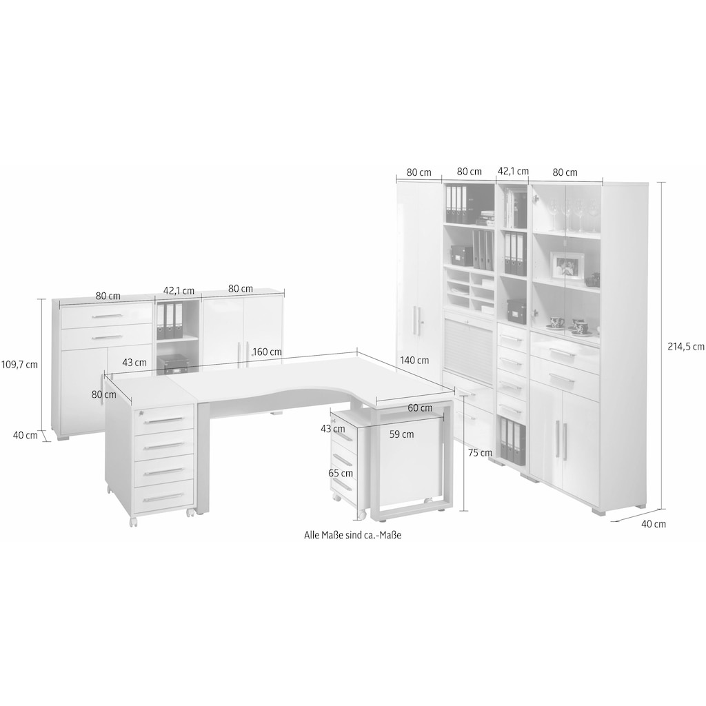 Maja Möbel Büro-Set »1207 SYSTEM«, (Set, 10 St.)