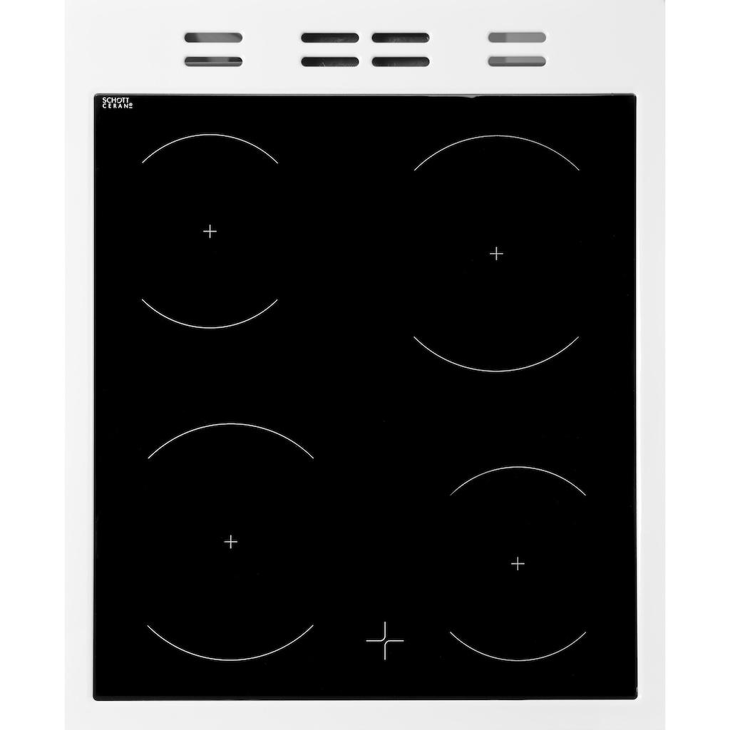 BEKO Elektro-Standherd »FSM57100GW«, FSM57100GW, mit Backauszug, Simple Steam Reinigungsfunktion
