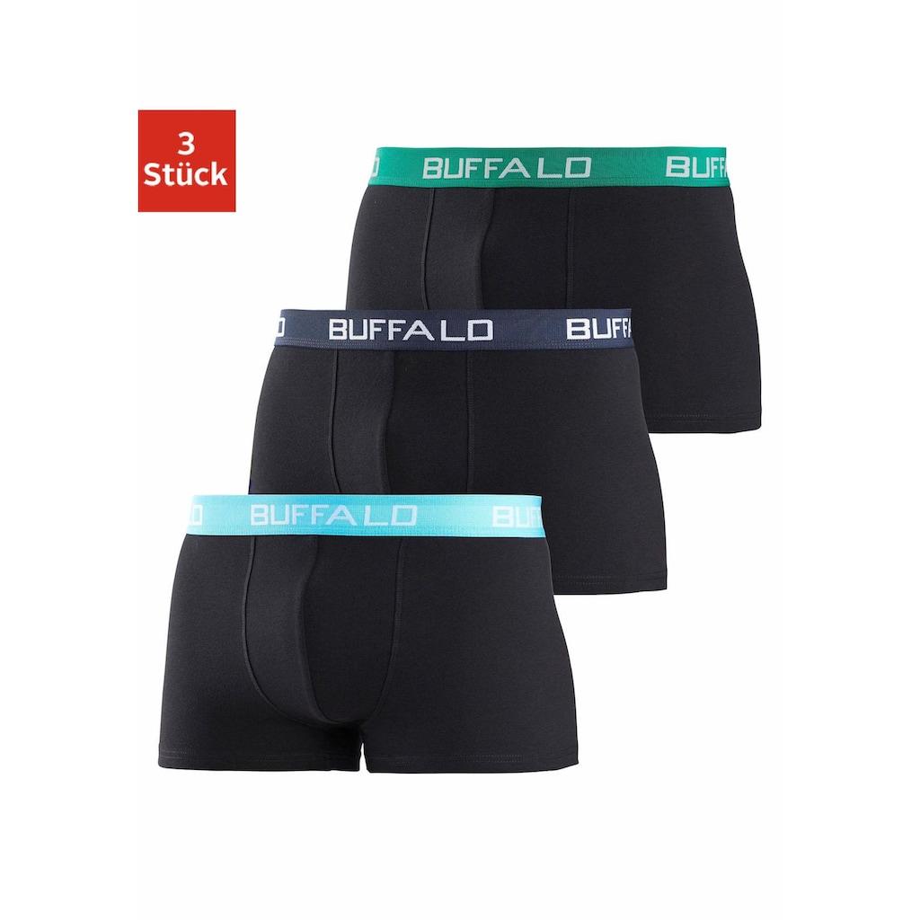 Buffalo Boxer, (3 St.), mit kontrastfarbenen Bündchen