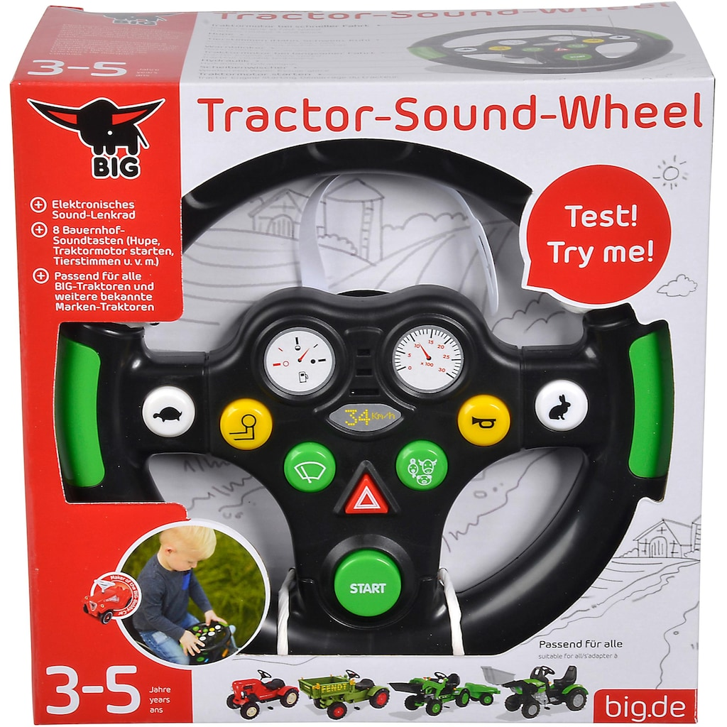 BIG Spielfahrzeug-Lenkrad »BIG Tractor Sound Wheel«, mit Soundfunktion
