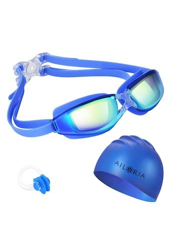 YEAZ Schwimmbrille »TRITON«, Set inkl. Taucherbrille, Badekappe, Nasenklammer und Ohrstöpsel kaufen