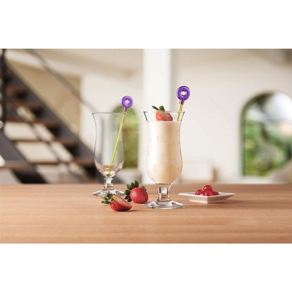 LEONARDO Cocktailglas »Hurricane«, (Set, 12 tlg., 6 Gläser, 6 Rührer), (6 Gläser, 6 Rührer), 330 ml