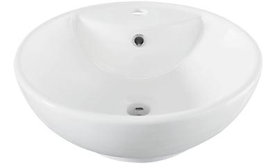 WELLTIME Aufsatzbecken »Milano«, Waschbecken, rund, Breite 46 cm kaufen