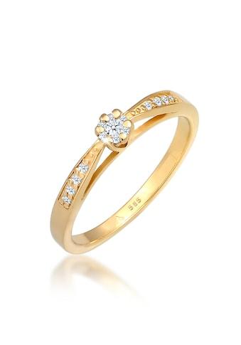 Diamore Verlobungsring »Verlobung Diamant (0.085 ct.) Blume 585 Gelbgold« kaufen