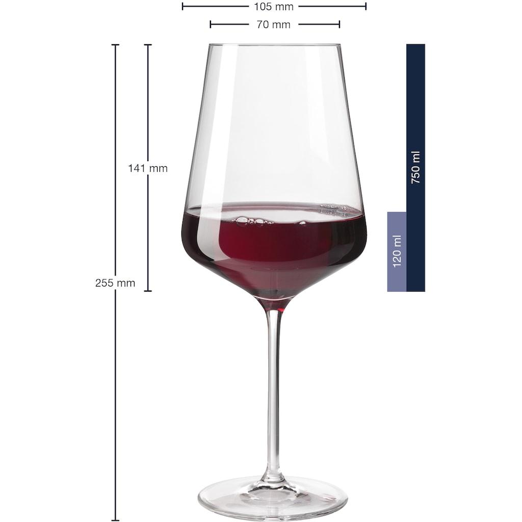 LEONARDO Rotweinglas, (Set, 6 tlg.), Teqton, 750 ml, 6-teilig
