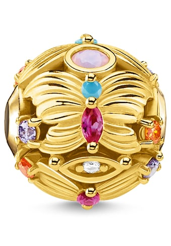 THOMAS SABO Bead »Schmetterling gold, K0342-488-7«, mit synth. Korund, Glassteinen und... kaufen