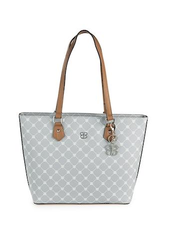 Basler Handtasche mit Schmuckkarabiner und Logo-Muster kaufen