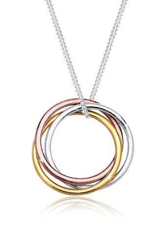 Elli Collierkettchen »Kreis Anhänger Tricolor Look 925 Sterling Silber« kaufen
