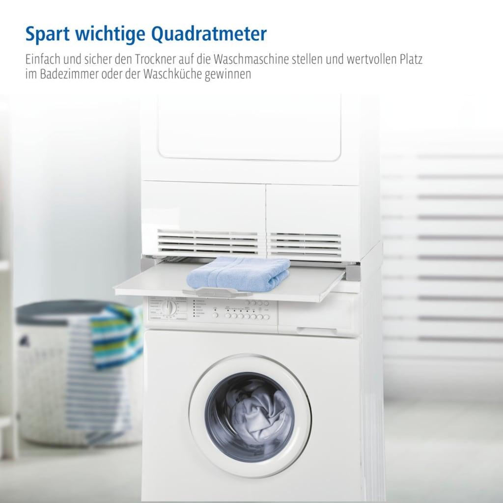 Xavax Zwischenbaurahmen für Waschmaschinen/Trockner mit Ablage