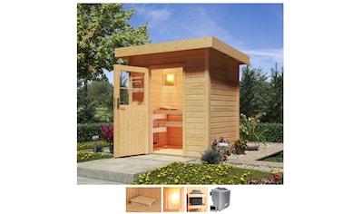 Karibu Saunahaus »Wim«, 9-kW-Bio-Ofen mit ext. Steuerung kaufen