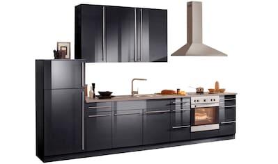wiho Küchen Küchenzeile »Chicago«, mit E - Geräten, Gesamtbreite 340 cm kaufen