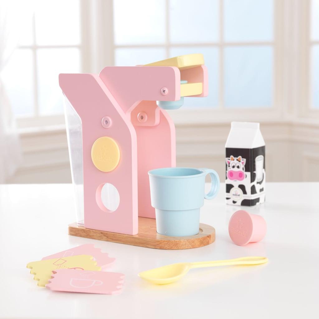 KidKraft® Kinder-Kaffeemaschine »Spielset Kaffee, Pastellfarben«, (10 tlg.), mit Tasse und Zubehör